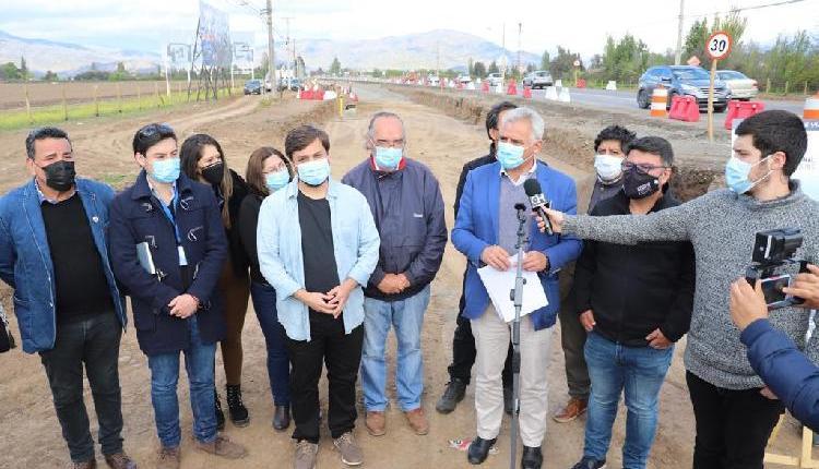 Autoridades regionales y locales visitaron avance  de obras de ampliación de Carretera El Cobre